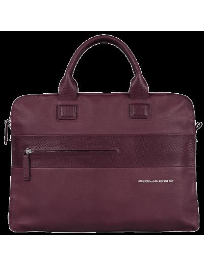 Laszlo Бизнес чанта за 13 инча лаптоп в лилав цвят - Laszlo