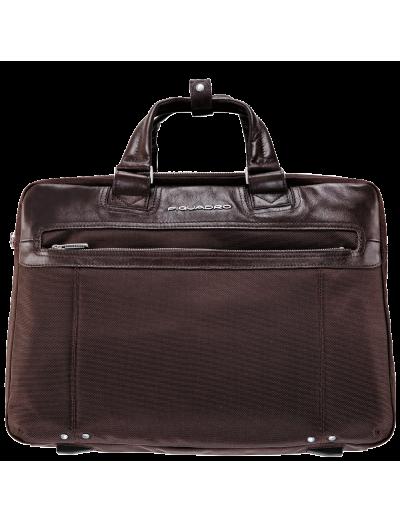 Link Голяма, бизнес чанта за документи с разширение и две отделения в тъмно кафяв цвят - Link