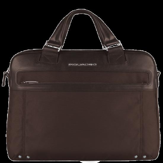 Link Хоризонтална дамска чанта с отделение за iPad/iPad Air/iPad mini в тъмно кафяв цвят - Дамски бизнес чанти