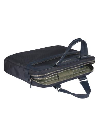 Link Хоризонтална дамска чанта с отделение за iPad/iPad Air/iPad mini в тъмно кафяв цвят - Link