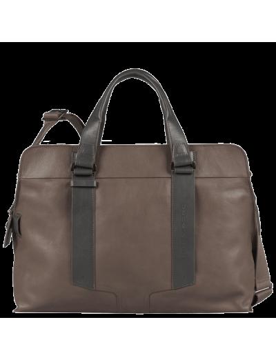 Wassily Чанта за документи и 15 инча ноутбук с отделение за чадър и бутилка в сив цвят - Мъжки бизнес чанти