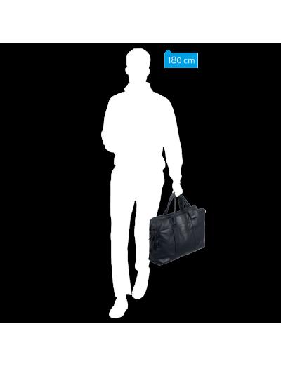 Wassily Чанта за документи и 15 инча ноутбук с отделение за чадър и бутилка в сив цвят - Connequ