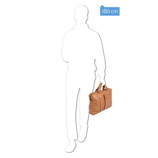 Чанта с разширение и отделение за  iPad®Air/Pro 9,7 and iPad® mini сив цвят - Мъжки бизнес чанти