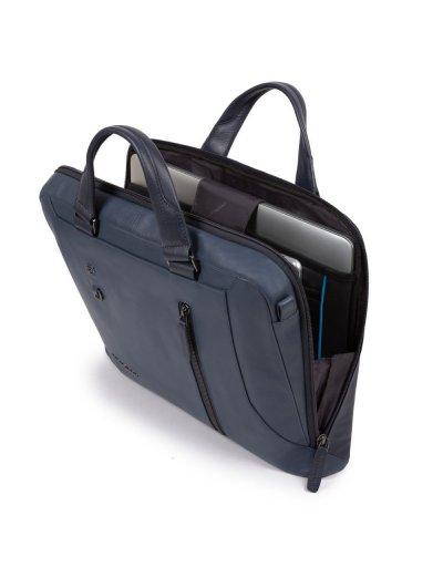"""Hakone Бизнес чанта с отделение за iPad AIR - iPad Pro 9,7/iPad 11"""" в син цвят -"""