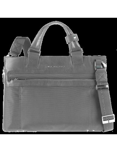 Link Елегантна, бизнес чанта за документи с разширение в сив цвят - Link