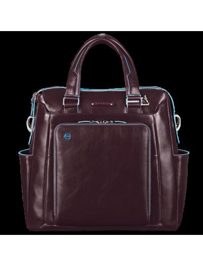 Blue Square Вертикална голяма чанта с отделение за 15 инча ноутбук в тъмно кафяв цвят - Сравняване на продукти