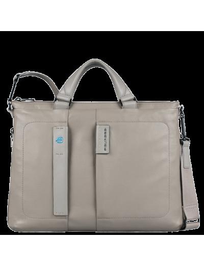 Pulse Чанта за документи с разширение за 15 инча лаптоп и джоб за iPad mini сив цвят - Pulse