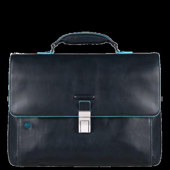 Blue Square Бизнес чанта за 15.6 инча ноутбук с едно отделение тъмно син цвят - Мъжки бизнес чанти