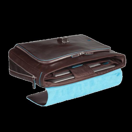 Blue Square Бизнес чанта за 15.6 инча ноутбук с едно отделение черен цвят - Мъжки бизнес чанти