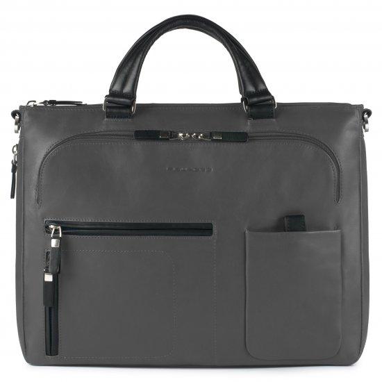 """Spock Бизнес чанта за iPad/iPad®Air/Air2 с разширение за 15"""" лаптоп сив цвят - Дамски бизнес чанти"""