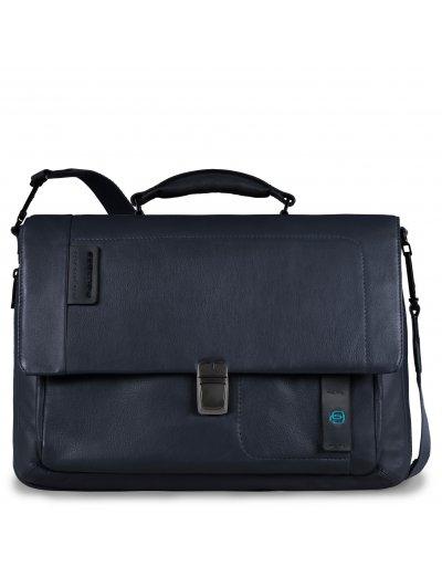 Pulse Бизнес чанта за 15 инча ноутбук с едно отделение и разширение тъмно син цвят - Pulse