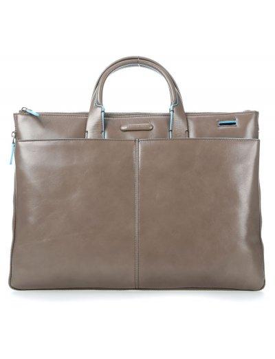 Blue Square Елегантна, бизнес чанта за документи с разширение бежов цвят - Сравняване на продукти
