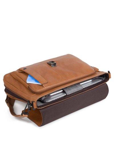 Бизнес чанта за 15 инча ноутбук с едно отделение и разширение светло кафяв цвят - Сравняване на продукти