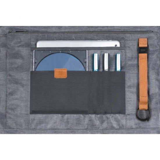 Бизнес чанта за 15 инча ноутбук с едно отделение и разширение светло кафяв цвят - Дамски бизнес чанти