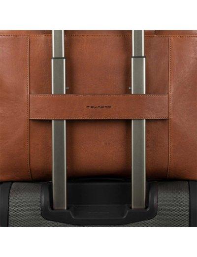 Black Square Бизнес чанта за iPad®Air/Pro 9,7 и CONNEQU тъмно кафяв цвят -