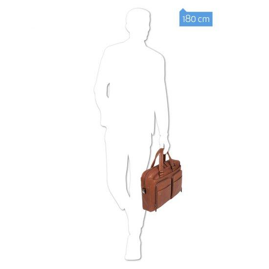 Black Square Бизнес чанта за iPad®Air/Pro 9,7 и CONNEQU тъмно кафяв цвят - Мъжки бизнес чанти