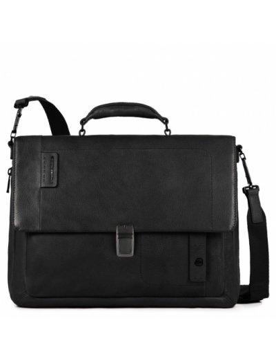 Бизнес чанта за 15 инча ноутбук с едно отделение и разширение черен цвят - Бизнес чанти