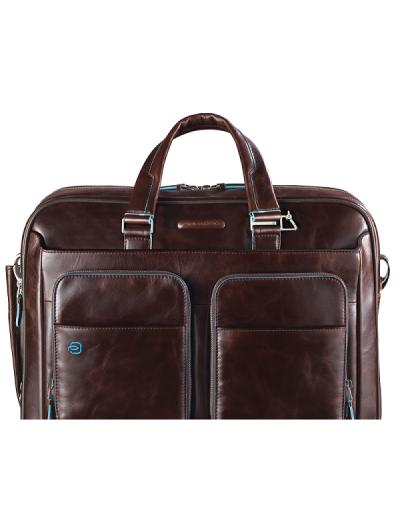 Blue Square Бизнес чанта за 15 инча лаптоп с едно отделение в цвят махагон - Сравняване на продукти