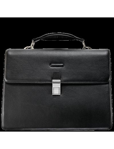 Modus Хоризонтална, бизнес чанта за 15 инча лаптоп с три отделения в черен цвят - Мъжки бизнес чанти