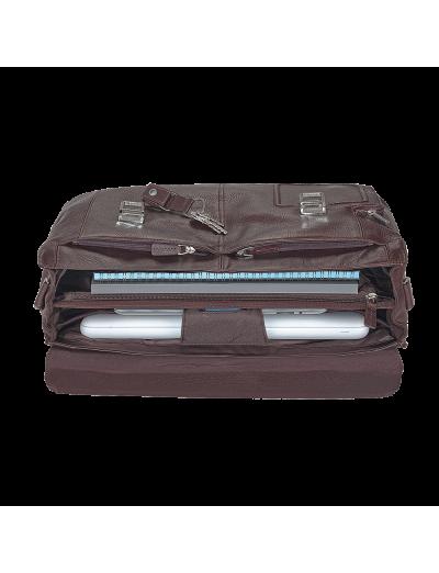 Vibe Хоризонтална, бизнес чанта с две отделения в тъмно кафяв цвят  - Сравняване на продукти