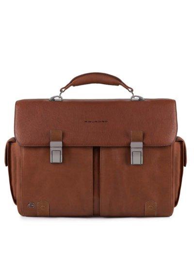 Black Square Хоризонтална, бизнес чанта с две отделения в светло кафяв цвят  - Сравняване на продукти