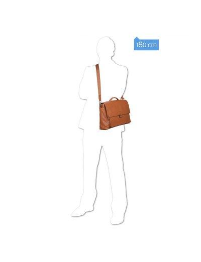 KOLYMA Голяма бизнес чанта с отделение за 15,6 инча лаптоп и iPad®Air/Pro 9.7 в светло кафяв цвят  - Бизнес чанти