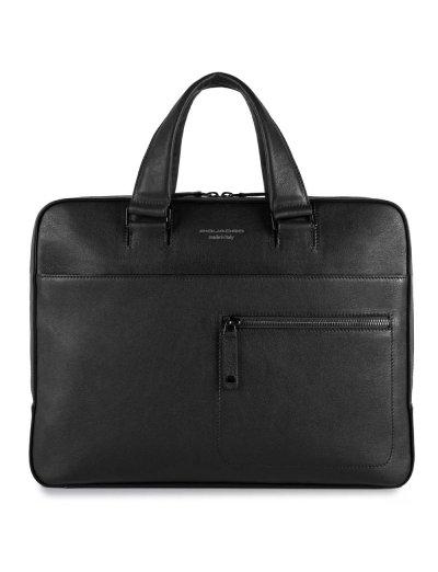 David Тънка бизнес чанта със сменяеми дръжки за 14 инча ноутбук черен цвят - Бизнес чанти
