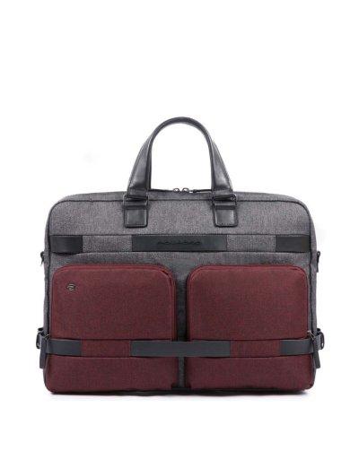Pierre Бизнес чанта за документи с отделение за 15.6'' цвят Червен/Сив - Мъжки бизнес чанти