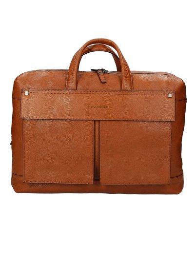 KOLYMA Бизнес чанта за документи с две отделения в светло кафяв цвят  - Сравняване на продукти