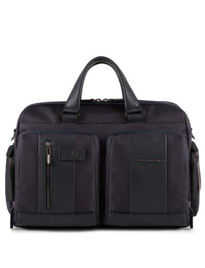 """Brief Бордна чанта с отделение за 15.6"""" лаптоп в тъмно син цвят - Сравняване на продукти"""