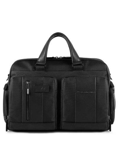 """Brief Бордна чанта с отделение за 15.6"""" лаптоп в черен цвят - Сравняване на продукти"""