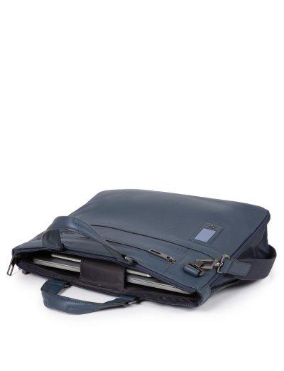AKRON Тънка, бизнес чанта за 15.6 инча лаптоп и възможност за разширение в син цвят - Сравняване на продукти
