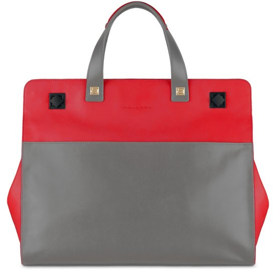 Omega Дамска чанта с мобилно отделение за iPad®Air/Air2 в цвят ягода - Дамски бизнес чанти