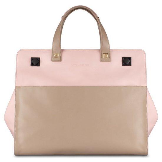 Omega Дамска чанта с мобилно отделение за iPad®Air/Air2 в цвят пепел от рози - Дамски бизнес чанти