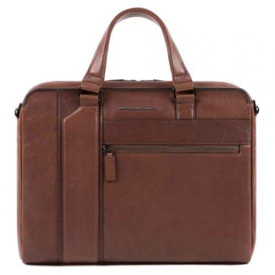 """KOBE Тънка чанта с отделение за iPad AIR - iPad Pro 9,7/iPad 11"""" в кафяв цвят - Дамски бизнес чанти"""