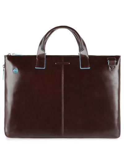 Blue Square Елегантна, бизнес чанта за 15.6 инча лаптоп и възможност за разширение в цвят махагон - Blue Square