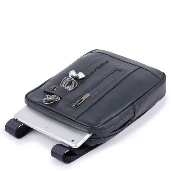 Urban Вертикална чантичка за рамо с отделение за iPad MINI_ MINI 2_ iPad MINI 3 сиво/черно - Чанти за рамо и кръст