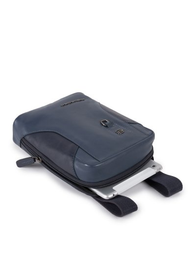 HAKONE Вертикална чантичка за рамо с отделение за iPad MINI_ MINI 2_ iPad MINI 3 в син цвят - Сравняване на продукти