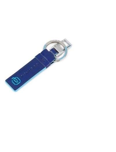 Blue Square Луксозен ключодържател естествена кожа в син цвят - Blue Square