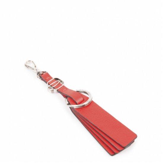 Muse Ключодържател естествена кожа в червен цвят - Ключодържатели