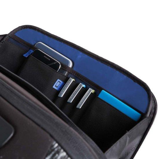 Бизнес куфар на 4 колела за 15.6 инча лаптоп в черен цвят -
