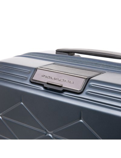 PIQBIZ Ултра тънък спинер на 4 колела 55 см височина с изводи USB A, micro-USB и тип-C , външна батерия и CONNEQU  - PIQBIZ