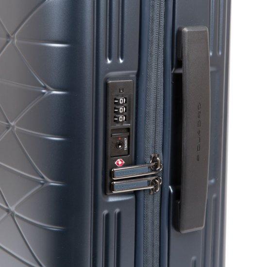 PIQBIZ Ултра тънък спинер на 4 колела 55 см височина с изводи USB A, micro-USB и тип-C , външна батерия и CONNEQU - Connequ