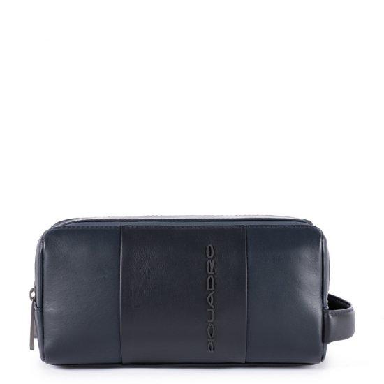 Urban Несесер от естествена кожа тъмно син цвят цвят - Мъжки портфейли