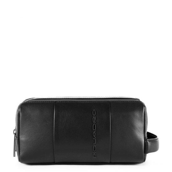 Urban Несесер от естествена кожа в черен цвят - Мъжки портфейли