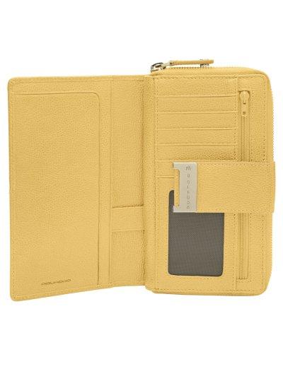 Луксозен дамски портфейл от естествена кожа в пастелно жълт цвят - Сравняване на продукти