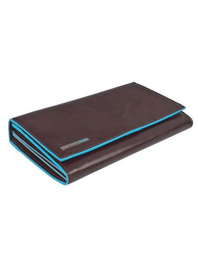 Blue Square Луксозен дамски портфейл от естествена кожа затваря се с прихлупване в цвят махагон - Сравняване на продукти