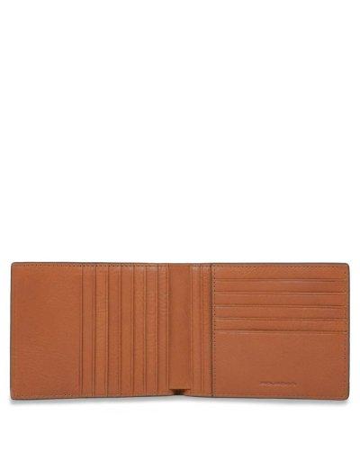 KOLYMA Мъжки портфейл от естествена кожа с отделения за карти в светло кафяв цвят - Мъжки портфейли