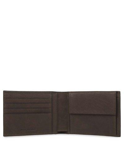 Black Square Мъжки портфейл от естествена кожа с отделения за карти и монети и RFID в тъмно кафяв цвят - Сравняване на продукти