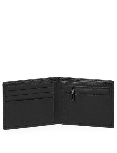 Urban Тънък мъжки портфейл с отделение за монети в черен цвят - Urban